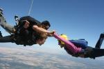 Sky diving in California