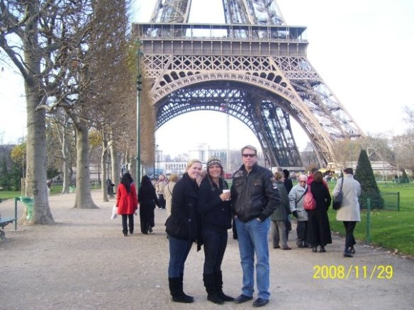 My Family at The Eiffel Tower, Paris France