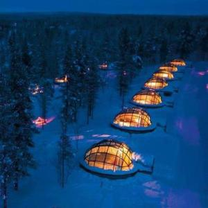 Glass igloos in Finland. Sleep under the Northern Lights.