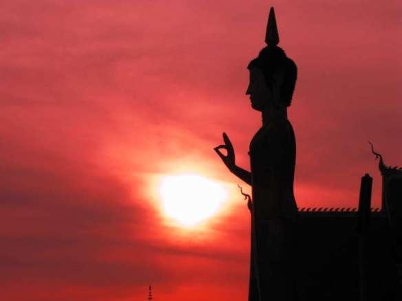 Thai Buddha Sunset
