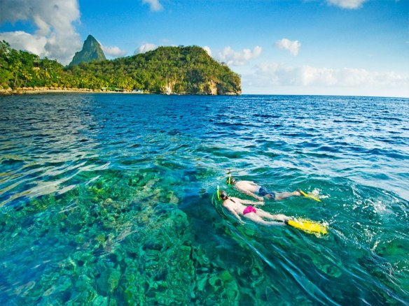 St. Lucia snorkeling