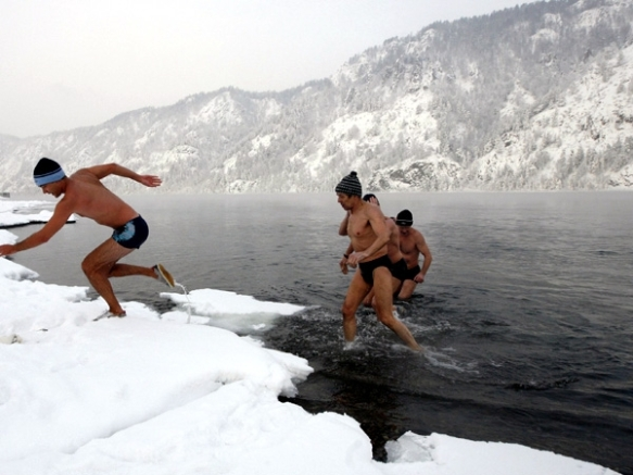 Ice Swimming in Russia